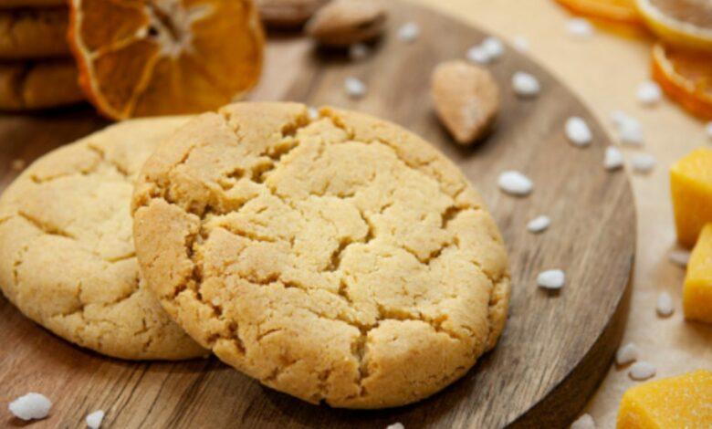Galletas de naranja, arándanos y almendra, receta fácil paso a paso 1