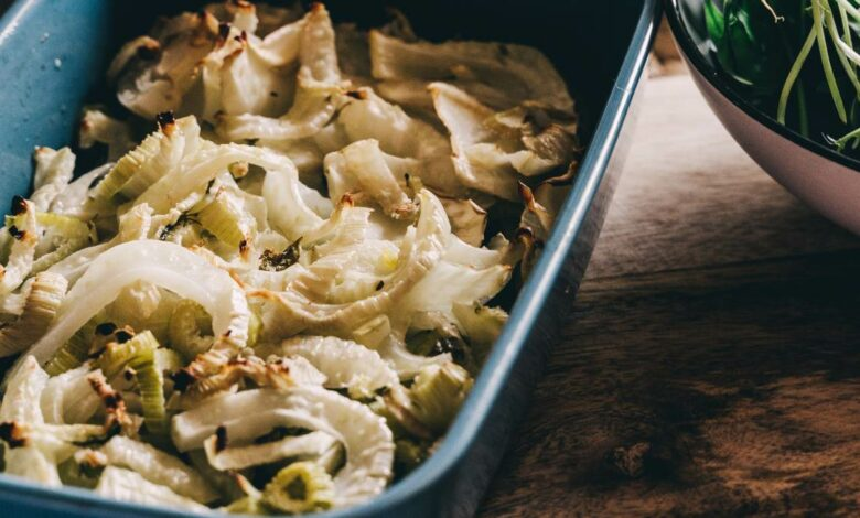 Hinojo horneado con aceitunas y alcaparras, receta fácil paso a paso 1