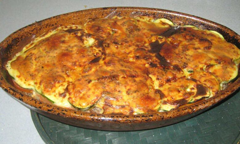Parmesana de calabacín, receta italiana 1