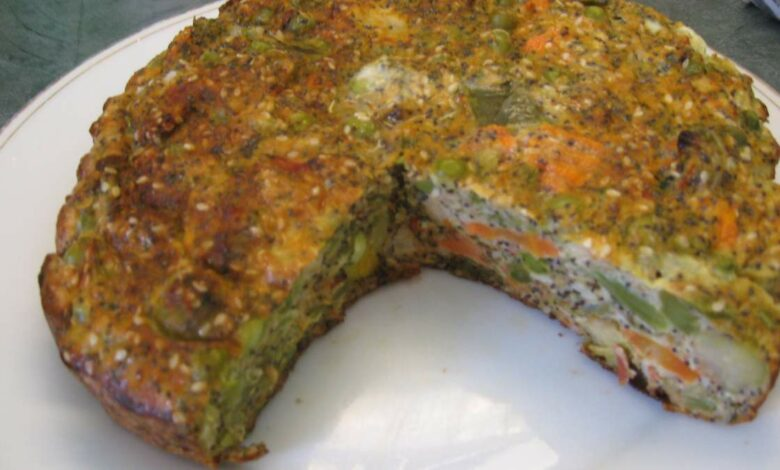 Pastel vegetal al horno, receta fácil paso a paso 1