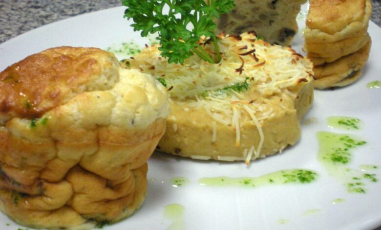 Receta de soufflé de queso parmesano con tomates asados sin gluten 1