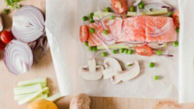 Salmón en papillote, receta de pescado muy fácil 5