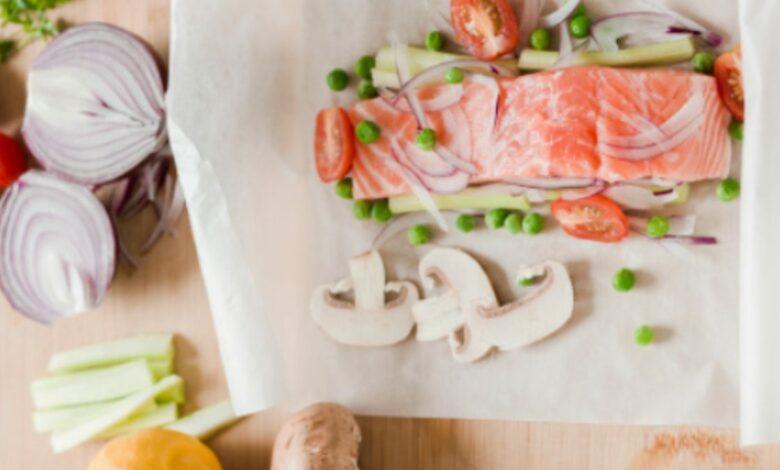 Salmón en papillote, receta de pescado muy fácil 1