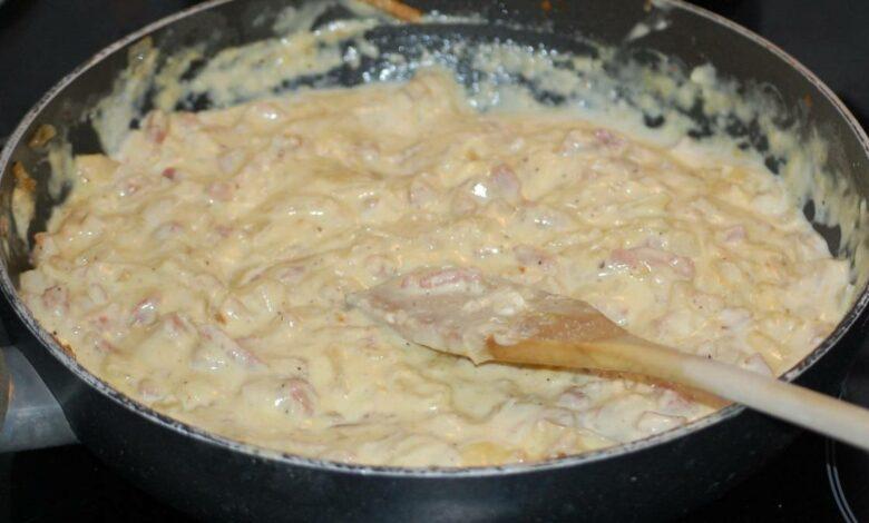 Salsa carbonara original italiana, receta casera 1