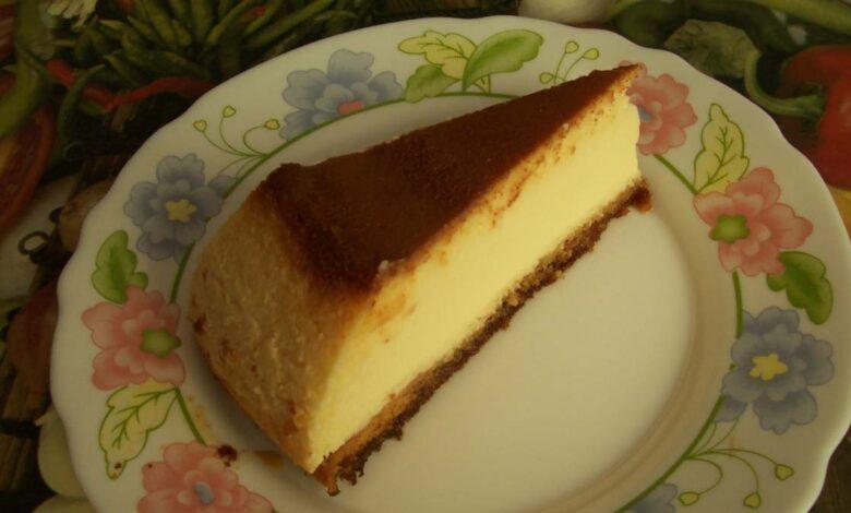 Tarta de queso con té matcha, receta casera 1