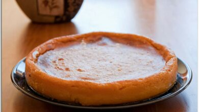 Tarta de queso sin azúcar con calabaza, receta de postre fácil de preparar 3