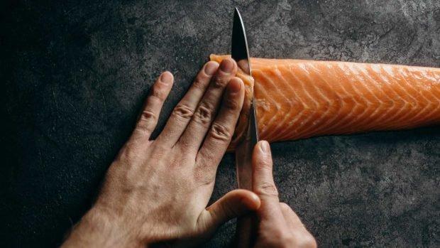 Kebab de pescado a la parrilla, magro y saludable 2