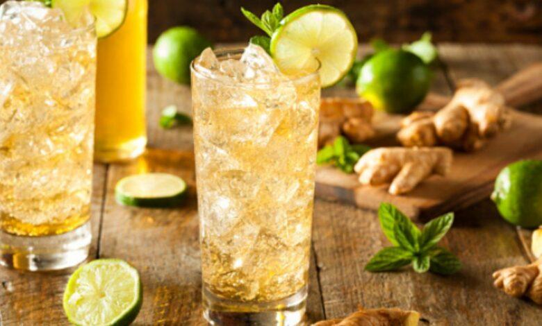 Cóctel de jengibre, lima y cava, receta de le bebida más saludable del verano 1