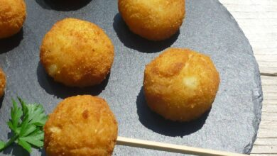 Croquetas de patata veganas, sin huevo 9