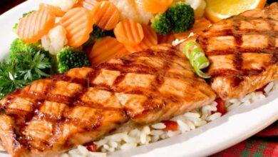 Kebab de pescado a la parrilla, magro y saludable 13