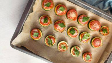 Montadito de calabacín, queso de cabra y tomate, receta de restaurante lista en 5 minutos 6