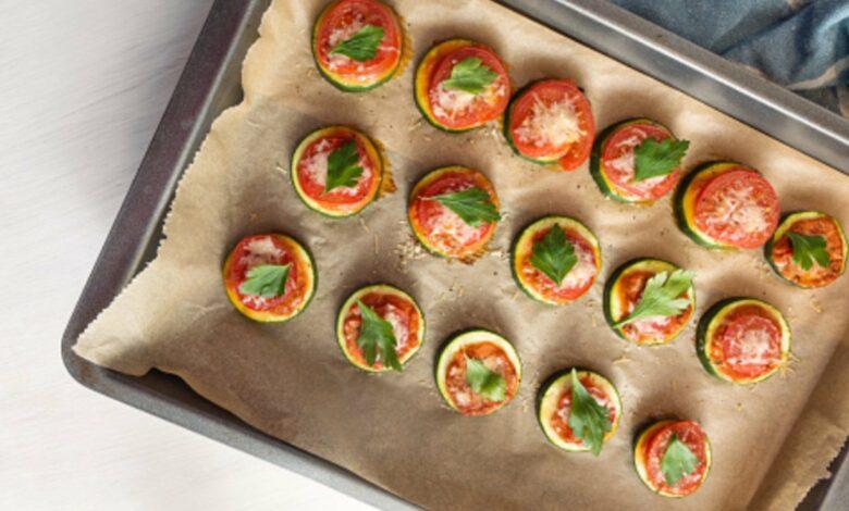 Montadito de calabacín, queso de cabra y tomate, receta de restaurante lista en 5 minutos 1