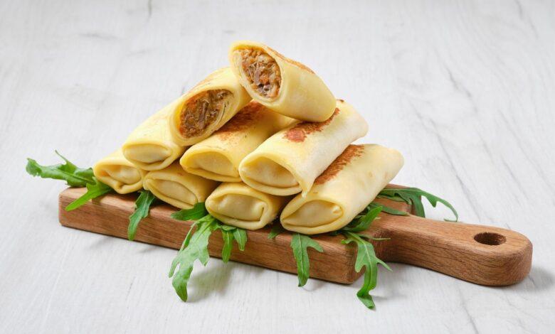 Receta de Crepes de pollo y queso fácil de preparar 1