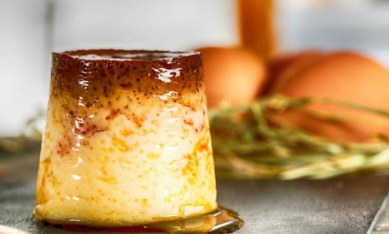 Receta de flan de huevo en el microondas rápida y fácil 1