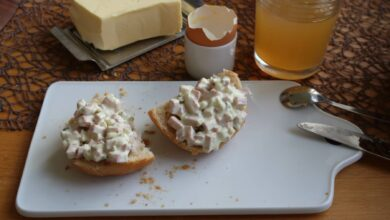 Fleischsalat: Ensalada alemana con salchicha 5