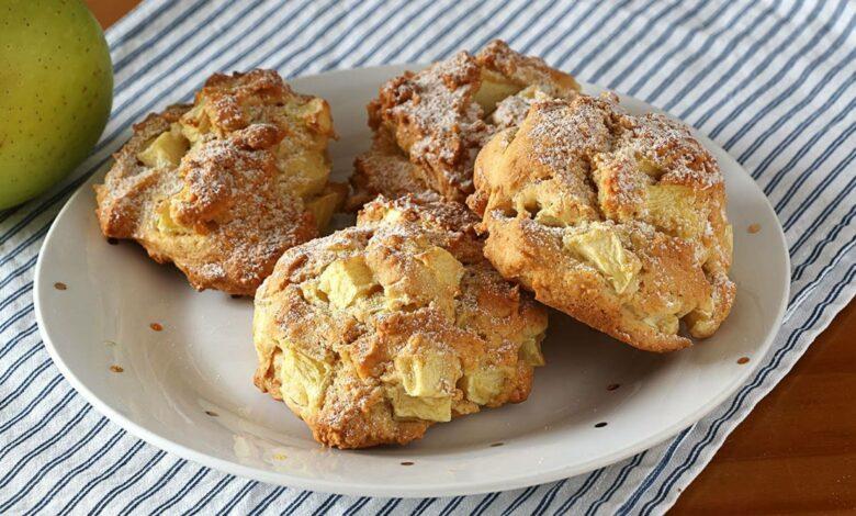 Galletas de manzana y yogur, al horno o sartén 1