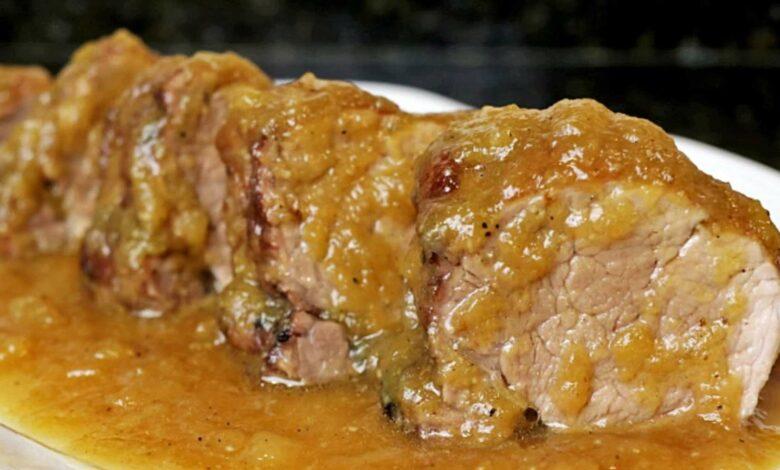 Lomo de cerdo con salsa de piña 1