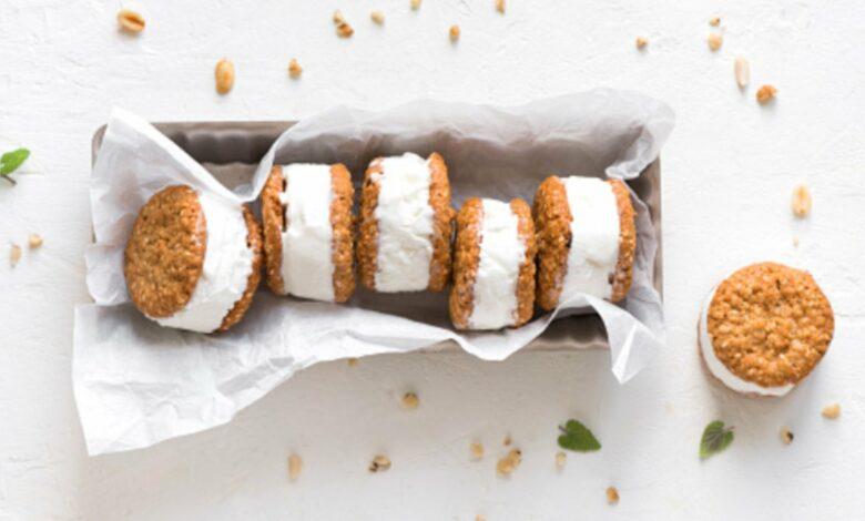Sándwich de helado vegano, receta para crear un postre clásico saludable 1