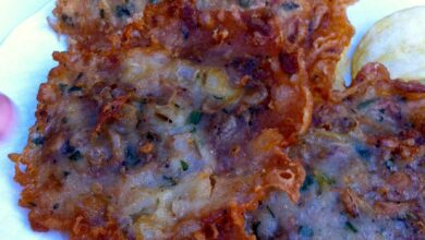 Tortitas de mariscos con alioli de arándanos 8
