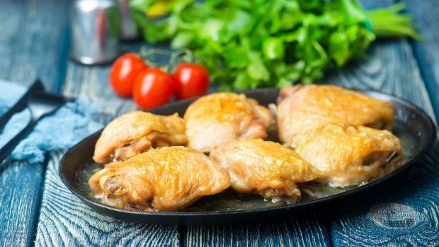 Cuartos de pollo al horno con vino blanco 2