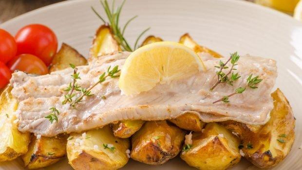 Trucha con patatas al microondas, una receta sana y deliciosa 2