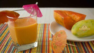 Batido de papaya, pomelo y piña, receta fácil 4