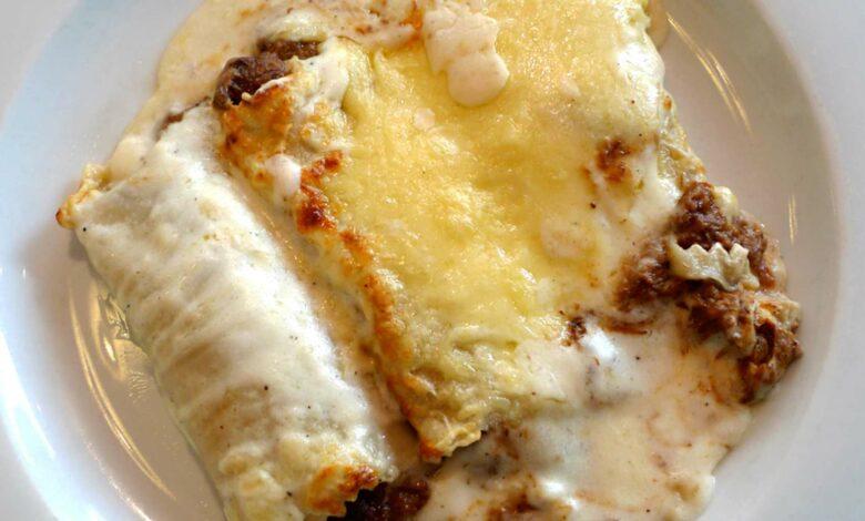 Canelones fáciles de carne, requesón y queso 1