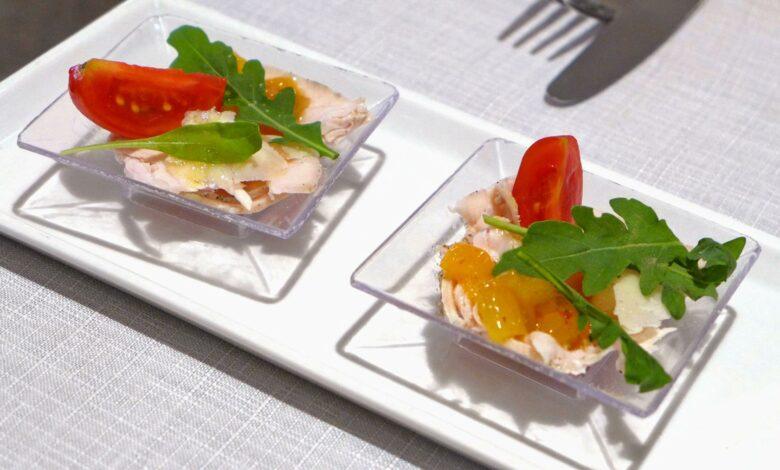 Ensalada de tomate, melocotón y queso feta 1