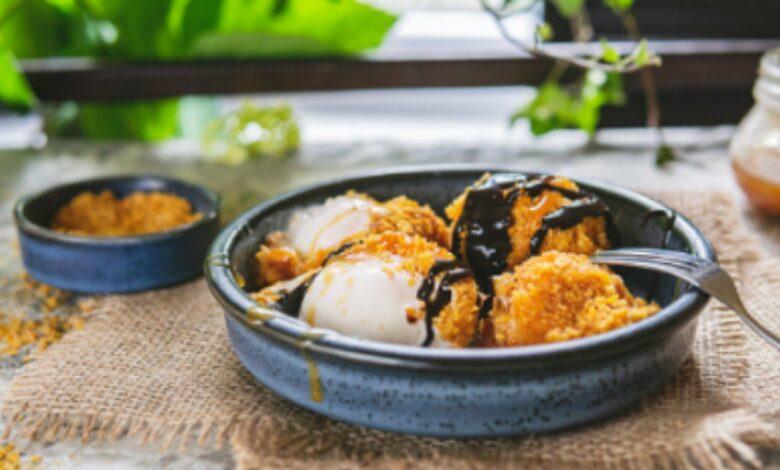 Helado frito de mango, receta de un postre original y delicioso 1