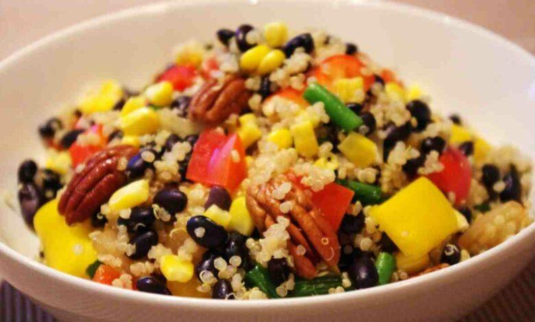 Ensalada de quinoa con vinagreta de lima y menta 1