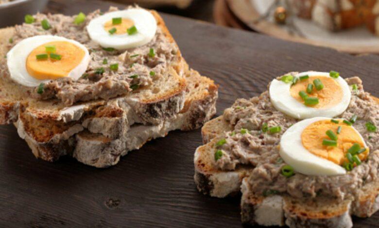 Sándwich vegetal de atún y huevo, receta rápida para una cena excepcional 1