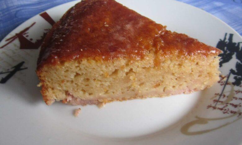 Torta fácil y rápida con harina de maíz 1