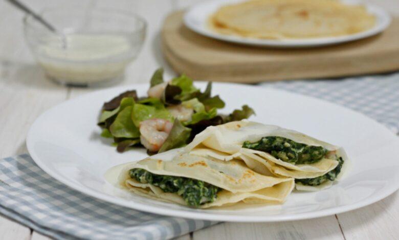 Crepes de espinacas y queso de cabra: ¡Quedarán impresionantes! 1