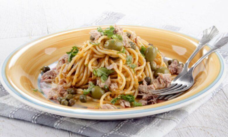 Recetas de espaguetis con atún caseros 1