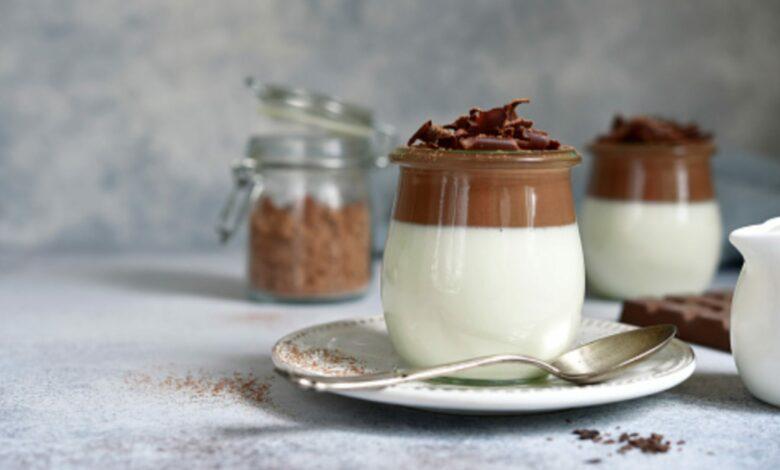 Gelatina de chocolate vegana, receta de postre ligero con 3 ingredientes 1
