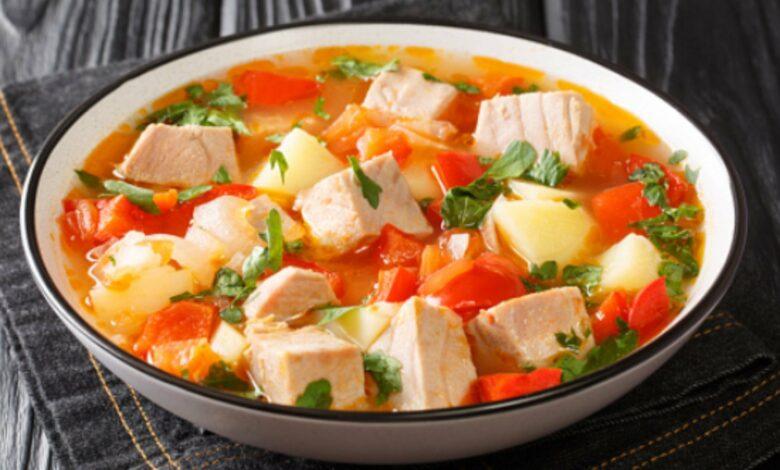 Marmitako de salmón con verduras 1