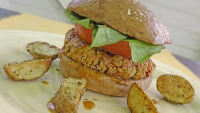 Pan de boniato para hamburguesas 9