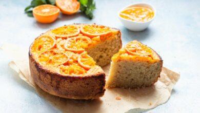 Bizcocho de naranja vegano, receta con 5 ingredientes fácil de preparar 3