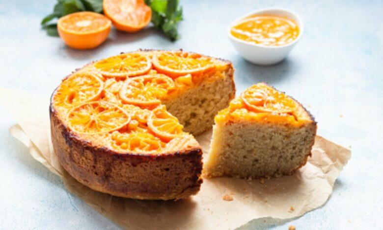 Bizcocho de naranja vegano, receta con 5 ingredientes fácil de preparar 1