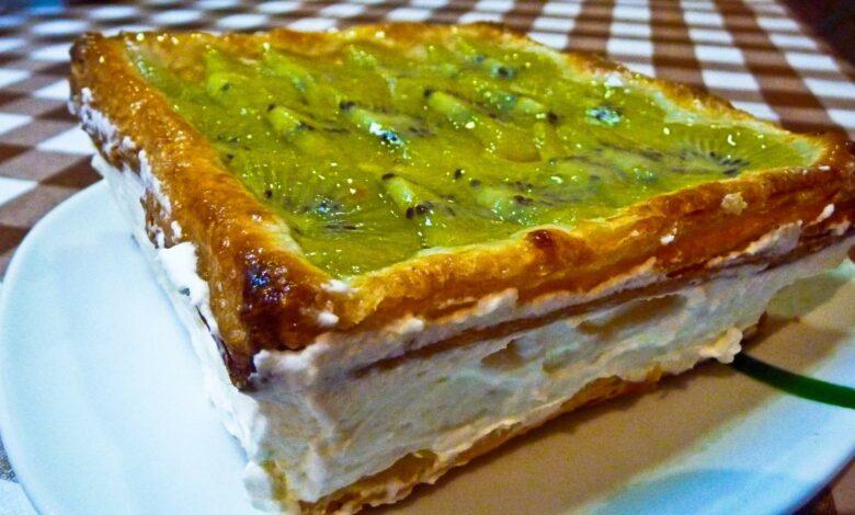 Pastel invertido de kiwi caramelizado 1