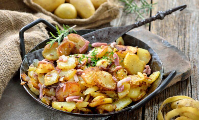 Patatas salteadas con bacon al estilo alemán 1