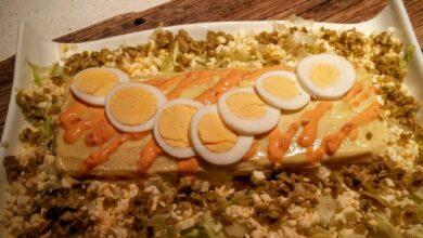 Tarta de atún con salvado de avena, dieta Dukan 6