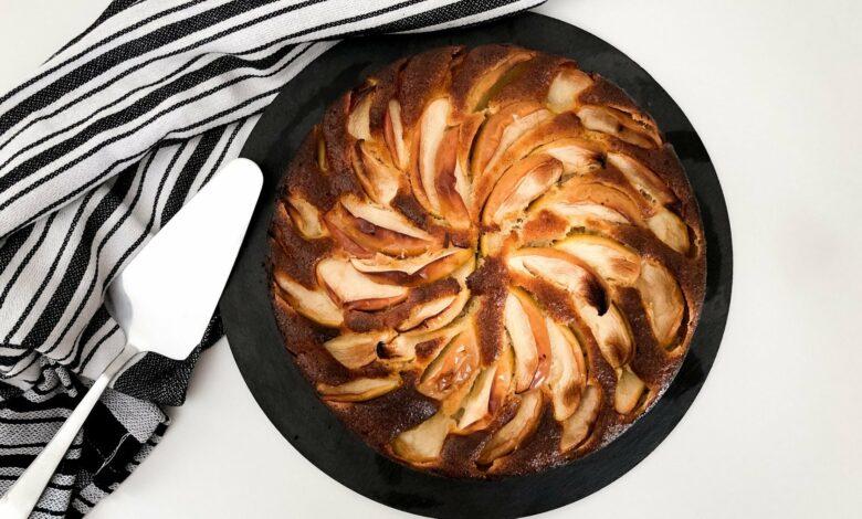 Torta de manzana con ron 1