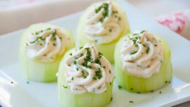 Verduras rellenas de mousse de pescado y menta fresca 9