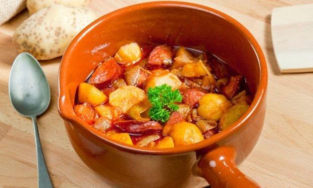 Chorizos con patatas