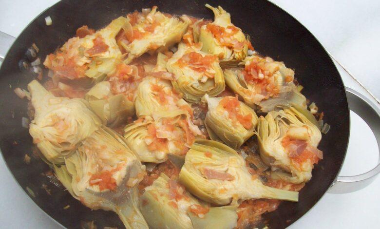 Alcachofa caponata, receta casera 1