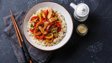 Arroz con pimientos al microondas, receta de restaurante lista en 15 minutos 4
