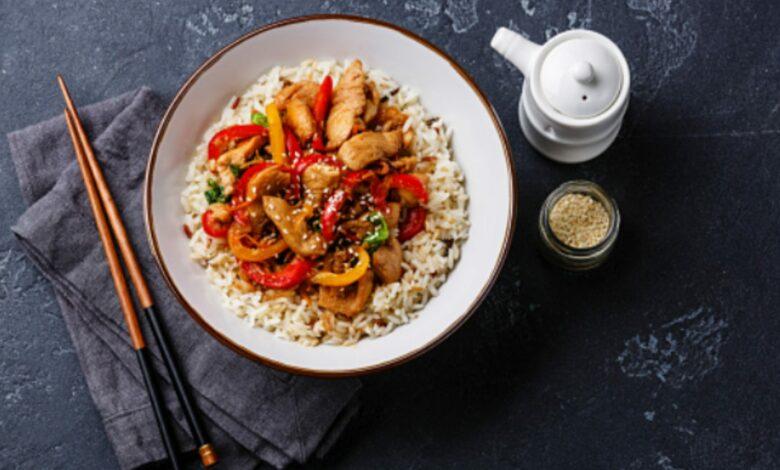 Arroz con pimientos al microondas, receta de restaurante lista en 15 minutos 1