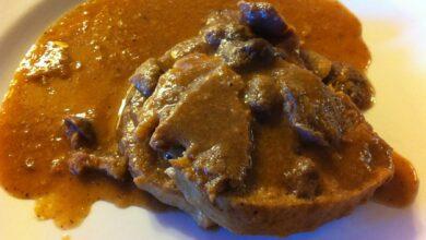 Bakonyi gombás, plato húngaro de cerdo 1