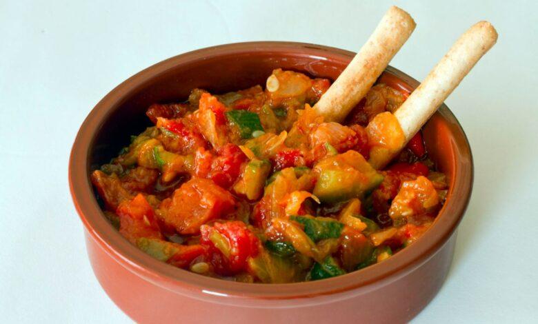 Cazuela de calabacín y tomates baja en calorías 1